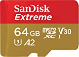 SanDisk Extreme 64GB microSDXC Class 10 Speicherkarte mit SD-Adapter, Gold/Rot