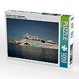Aida Stella in der Hafeneinfahrt 1000 Teile Puzzle quer
