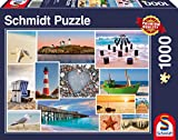 Schmidt Spiele 58221 58221-Am Meer, 1000 Teile Puzzle, bunt