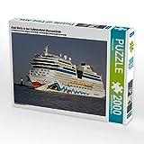 CALVENDO Puzzle Aida Stella in der Hafeneinfahrt Warnemünde 2000 Teile Lege-Größe 90 x 67 cm Foto-Puzzle Bild von FotoDeHRO