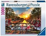 Ravensburger Puzzle 1000 Teile Fahrräder in Amsterdam, Farbenfrohes Puzzle für Erwachsene und Kinder ab 14 Jahren