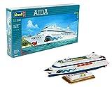 Revell Modellbausatz Schiff 1:1200 - AIDA im Maßstab 1:1200, Level 3, originalgetreue Nachbildung mit vielen Details, Kreuzfahrtschiff, 05805