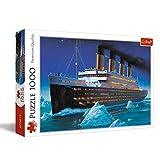 Trefl 10080, Puzzle, Titanic, 1000 Teile, mit Schiff, für Kinder ab 12 Jahren, Farbig