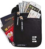 Brustbeutel Brusttasche Reisedokumententasche mit RFID Blocker Reisegeldbeutel