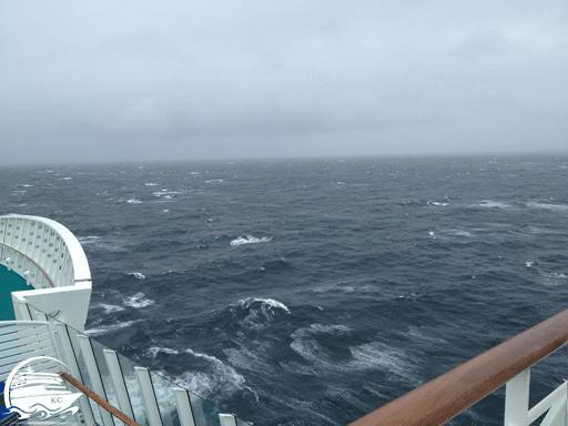 Seegang auf der Fahrt nach Norwegen
