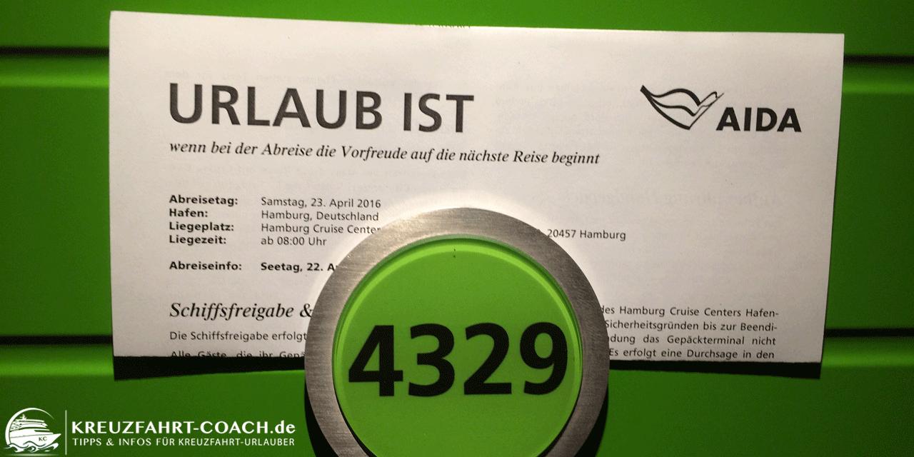 AIDA Check-Out – Abreiseinformationen