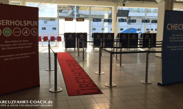 AIDA Check-In & Boarding – Teil 2
