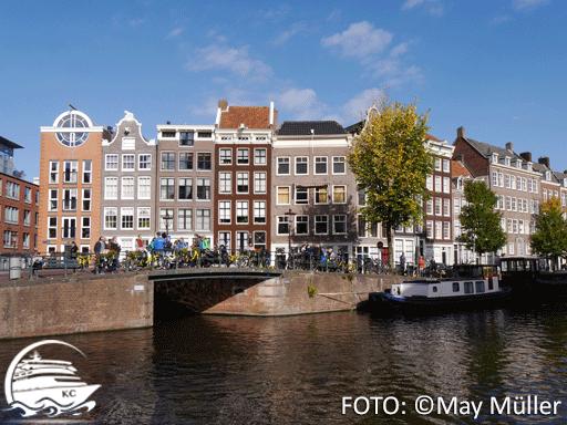 Amsterdam auf eigene Faust - Sehenswürdigkeiten: Gracht in Amstertdam
