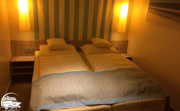 Kabinenkategorien - Doppelbett in einer Innenkabine