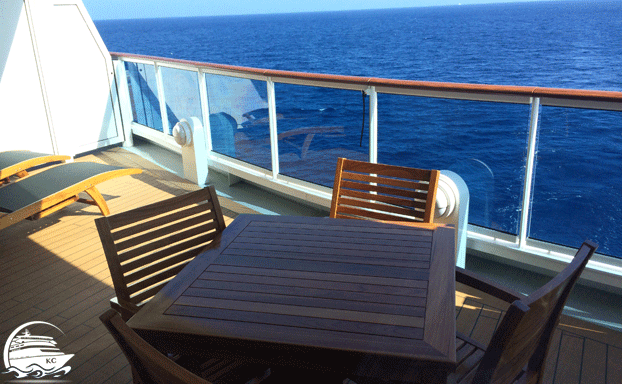 Balkon einer Premium Suite
