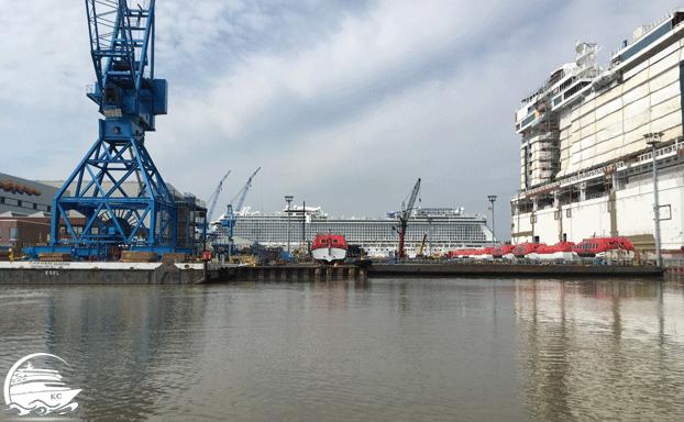 Meyer Werft Besichtigung - Ausdocken