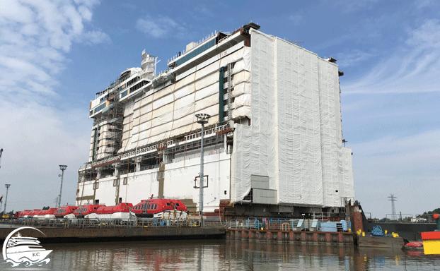 Meyer Werft Besichtigung - Schiffsmodul
