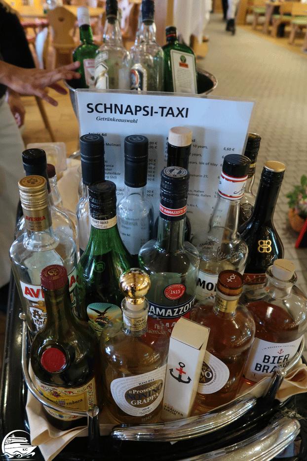 Schapsi Taxi Getränkeauswahl