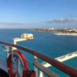 Blick beim Einlaufen nach Aruba