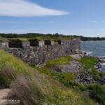 Insel Suomenlinna - Blick auf Festungsmauern
