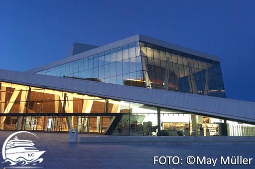 Oper von Oslo am Abend