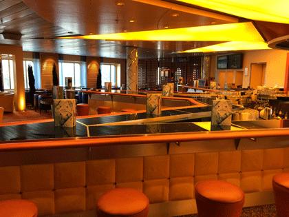 AIDA Schiffsbesuch - Blick in die AIDAbar auf AIDAaura