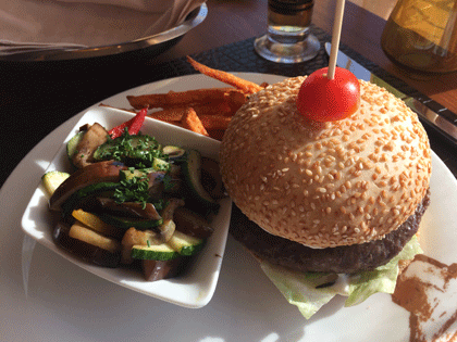 Burger im Buffalo Steak House