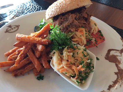Pulled Pork Burger aus dem Buffalo Steak House