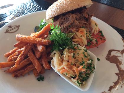 Pulled Pork Burger aus dem Buffalo Steak House