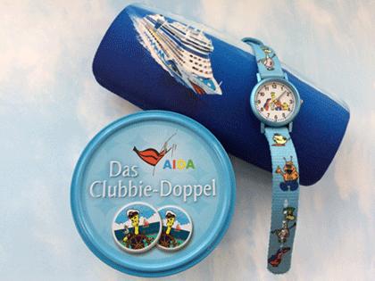 AIDA Uhr für Kinder, Brillenetui und AIDA Memory