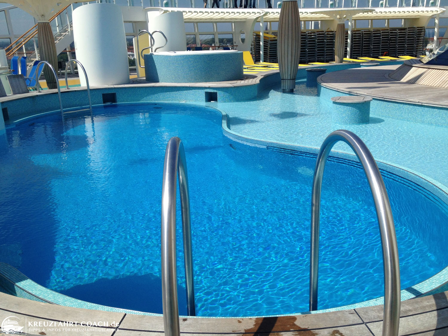 Pools auf dem Pooldeck