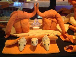 Figuren aus Handtüchern