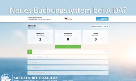 Neues Buchungssystem bei AIDA