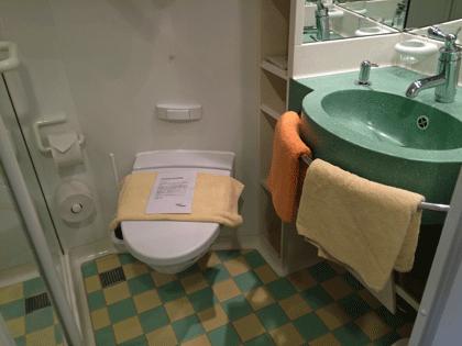 AIDAaura Innenkabine - WC Bereich