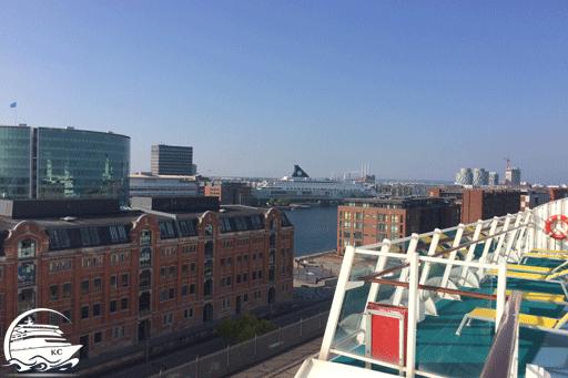 Blick von AIDAaura auf Kopenhagen