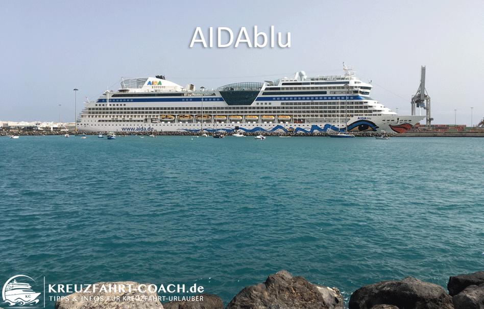 AIDAblu – Route | Kabinen | Daten | Position