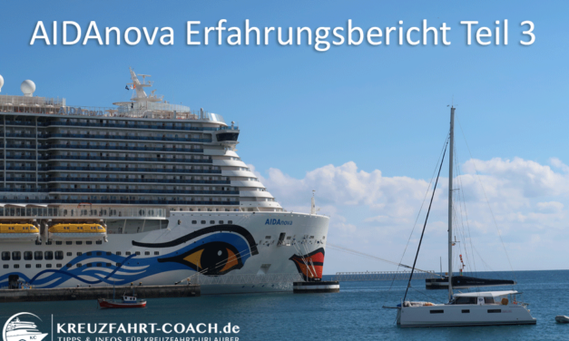 AIDAnova – Check-In und Orientierung an Bord