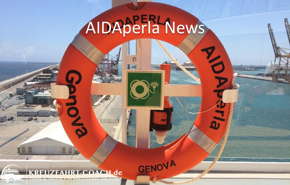 AIDAperla NEWS – Aktuelle Infos im Überblick