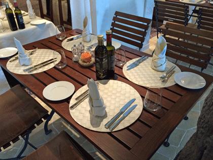 Gedeckter Tisch im Ristorante Casa Nova auf AIDAprima
