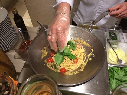 Pasta Station im Bella Donna