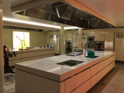 Blick ins Kochstudio auf AIDAprima