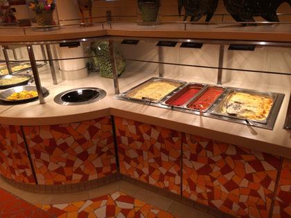 Kinderbuffet im Fuego Restaurant auf AIDAprima