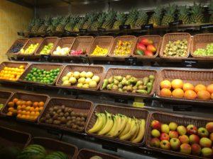Früchteauswahl im Marktrestaurant