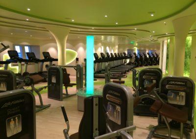 Fitnessbereich auf AIDAprima