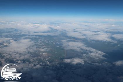 Blick aus der Flugzeug