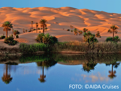 Wüstenlandschaft im Orient