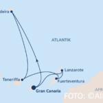 Routenkarte Kanaren Madeira 3