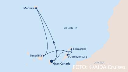 Neues Schiff 2018 - Routenkarte