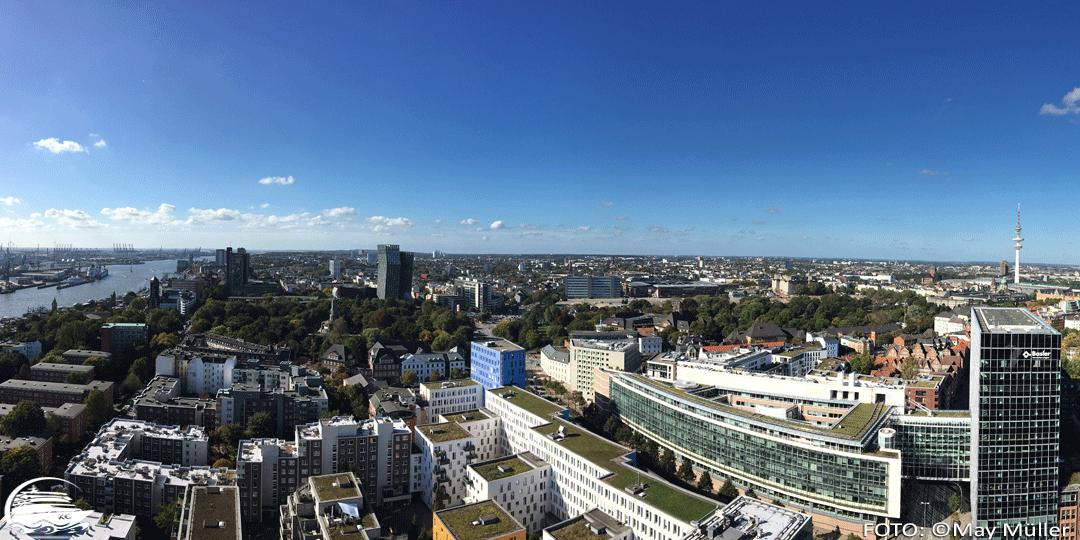 Panorama vom Hamburger Michel Richtung Altona