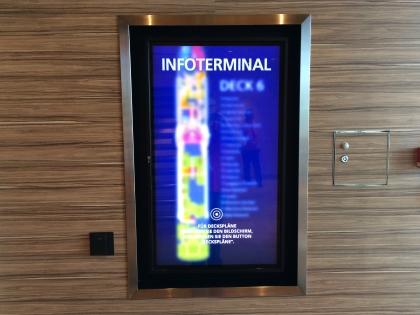 Infoterminal auf AIDAprima
