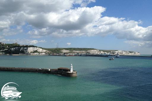 Blick auf die Kreidefelsen von Dover