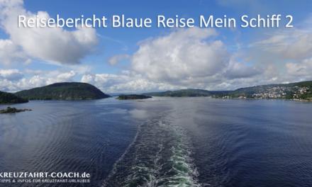 Blaue Reise mit der Mein Schiff 2 – Abreise