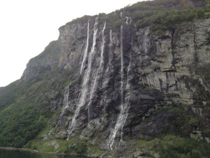 Wasserfall 7 Schwestern in Norwegen