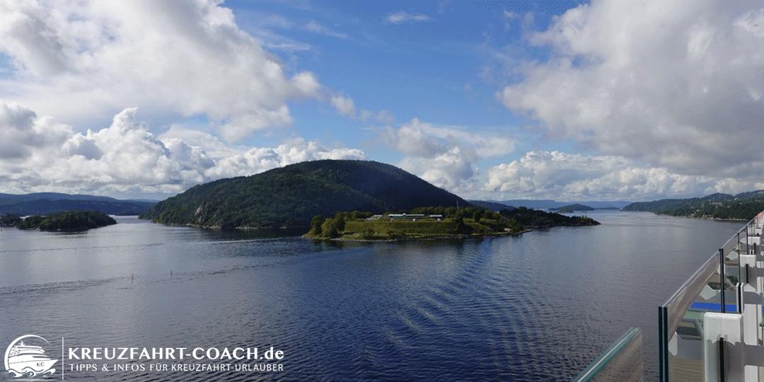 Blick vom Schiff in den Oslofjord