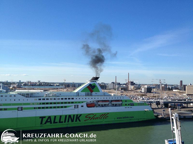 Diese Schiff verfügt wahrscheinlich nicht über eine Abgasreinigungsanlage.
